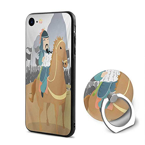 Chinese iPhone 6/iPhone 6s Cases,Far Eastern History Theme Military General Leading His Army Antiquity War Scenery Multicolor,Design Mobile Phone Shell Ring Bracket