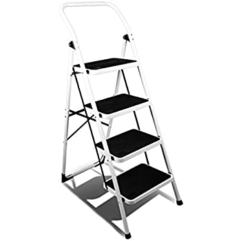 Magshion 4 Step Ladder Platform Lightweight Folding Stool