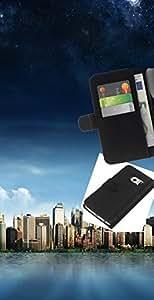 YiPhone /// Tirón de la caja Cartera de cuero con ranuras para tarjetas - Manhattan Paisaje - Samsung Galaxy S6 EDGE