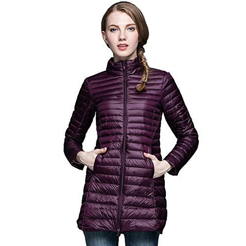 Cálido Xiaig Chaqueta Transpirable Plumón Jacket Outwear Chaquetas La Abrigo Acolchadas Larga Puffer Abajo Plumas De Ligero Escudo Invierno Mujer Moda qqOdr6