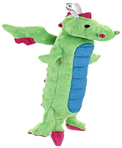GoDog Skinny Dragons Green Small Toy with Chew Guard