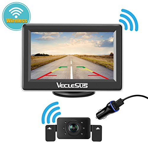 Wireless Backup Camera, Parking/Continuously Viewing System, Built-in Digital Wireless Transmitter, with 149° Gold Viewing Angle Car Licence Plate Backup Camera, for Car, Van, SUV, Pickup Truck.