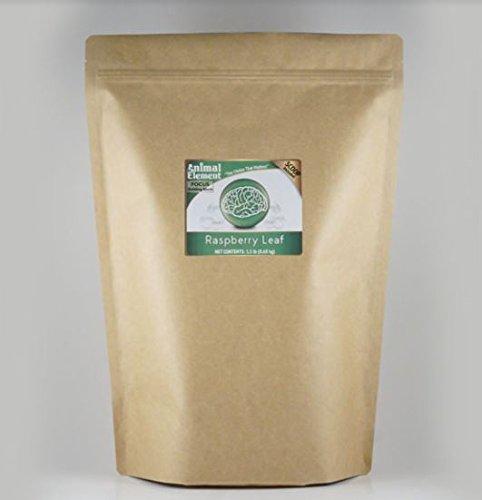 Raspberry Leaf - 1.5 Lb. - Organic, GMO free Calming Supplement by Animal Element