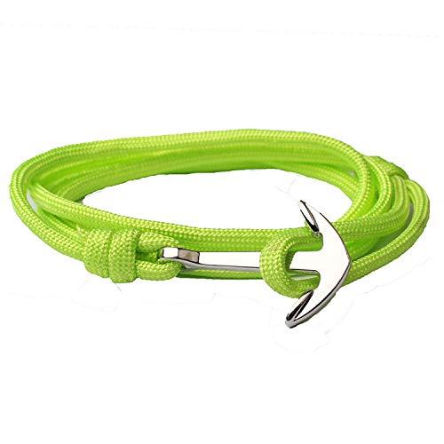 - Tea language 2019 Anchor Bracelets for Men Women Multilayer Rope Chain Charm Survival Bracelet Metal Hook Bangles