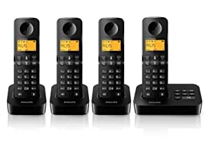 Philips D2054B - Teléfono (25 min, 50 entradas, Ámbar, 550 mAh, 0,75W, 0,1 W / kg)