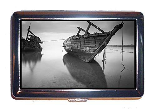 Di Custodia Portasigarette Barca Da Porta Credito Spiaggia Vista Mare In Protezione Case8 Acciaio Inox Carte rwqaUPxr8