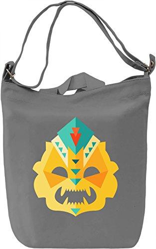 Lowpoly mask Borsa Giornaliera Canvas Canvas Day Bag| 100% Premium Cotton Canvas| DTG Printing|