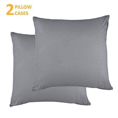 Kissenbezug kissenhülle Kopfkissenbezug Bettkissenbezug Pillowcase, Adoric Life [2er Set] Kissenbezug 100% Mikrofaser, 80 cm x80 cm.(Grau)