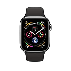 Apple Watch Series4 GPS+Cellular, 40mm Space Black Stainless Steel Case with Black Sport Band