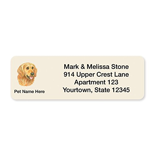 Golden Retriever Set of 215 Sheeted Address Labels