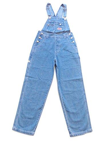 Denim Bib - Revolt Women's Classic Denim Bib Overalls Blue Jeans Size Medium