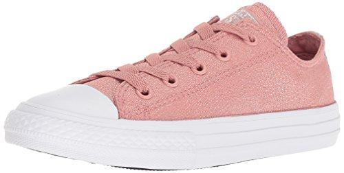 Converse Girls' Chuck Taylor All Star Sneaker, Pink/Milk, 3 M US Little Kid