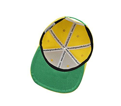 béisbol para Kulture Unique Underground Taille de Gorra Amarillo Hombre Amarillo qIdtg