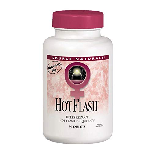(Source Naturals Hot Flash Premenopausal & Menopausal Symptom Support - Plant-Based, Herbal Relief with Black Cohosh, Soy, Don Quai & Chaste Tree - 90 Tablets )