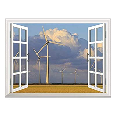 Removable Wall Sticker Wall Mural Wind Energy Turbines...