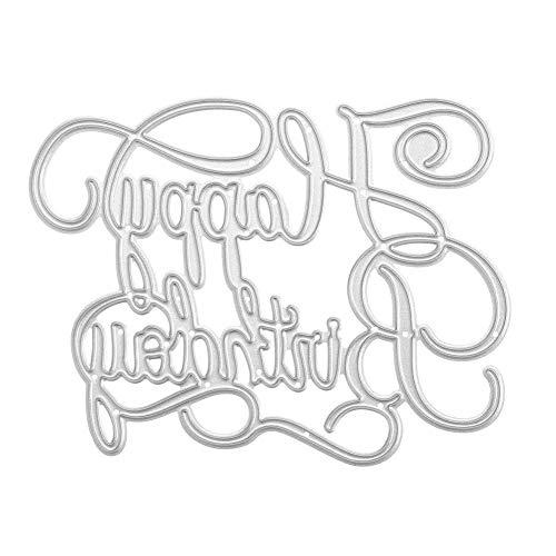 切削ステンシル スクラップブック カード作り道具 ダイカットテンプレート 切り抜き紙が作れる型 手作り DIY 紙飾り用具 Happy Birthday