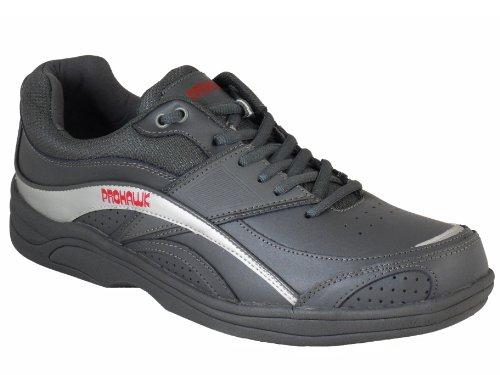 Uk 6 Cuir 13 Gris Pelouse Tailles Hommes Formateur Bols Chaussures Prohawk Style À OzzU4