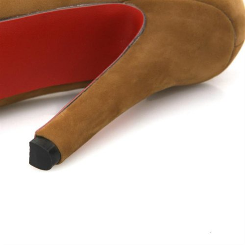 Scarpe Da Donna Con Tacco Alto In Nabuk Con Plateau E Tacco Alto Nero
