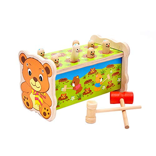 IslandseDeluxe Pounding Bench Wooden Toy with Mallet Wooden Learning Educational Toys