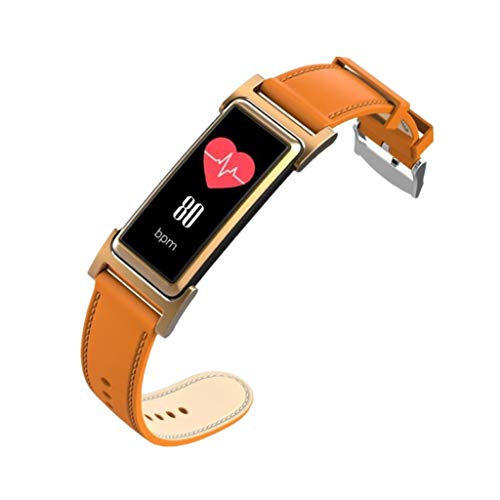 - TBANG Leather Strap Band Compatible Classic Genuine Wristband Metal Connectors, Fitness Women Men Small Large Bluetooth Screen Watch Health Pedometer Bracelet Sport Bands Silicone Smartwatch For Woman