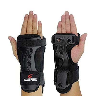RONSHIN Ergonomic Design Snowboard Ski Protective Gear Glove High Strength Adjustable Wrist Roller Skating Palm Care Support Guard Pad: Clothing