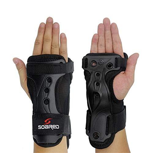 Protective Snowboard Gloves - RONSHIN Ergonomic Design Snowboard Ski Protective Gear Glove High Strength Adjustable Wrist Roller Skating Palm Care Support Guard Pad
