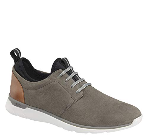 Mens Nubuck Shoes - Johnston & Murphy Men's XC4 Prentiss Plain Toe Shoe Gray Waterproof Nubuck 13 M/W US