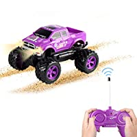 Remote Control Car Toy -Princess Style RC Truck & Jeep with Off Road Grip Tires for Girls Ages 5 Year + (Purple)
