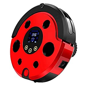 DPPAN Robotic Vacuum Cleaner and Mop, Super-Thin Robot Cleaning Vacuum for Pet Hair Thin Carpets and Hard Floors,red
