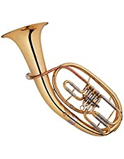 Funion Baritone Horn Outfit B Flat Brass Instrument With Case,Mouthpiece