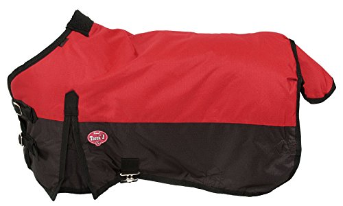 Tough 1 600D Waterproof Poly Miniature Turnout Blanket, Red, 38