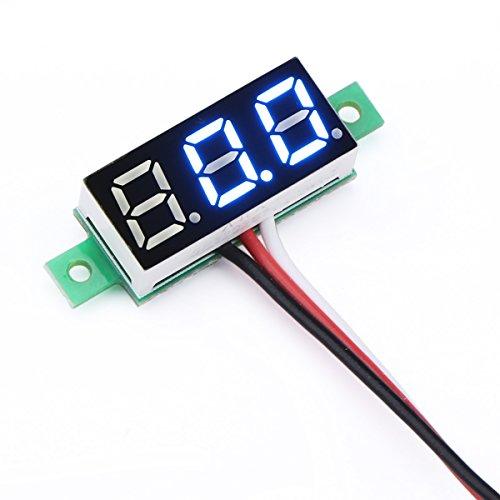 """DROK 2 Mini 0.28"""" Digital Voltage Tester Voltmeter DC 0~~100"""