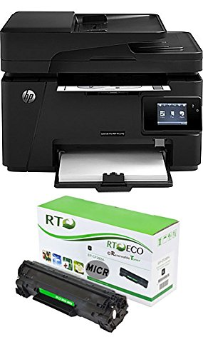 Renewable Toner M201dw MICR Printer Package: HP LaserJet M201dw Printer and 1 RT CF283A 83A MICR Toner Cartridge for check printing by Renewable Toner