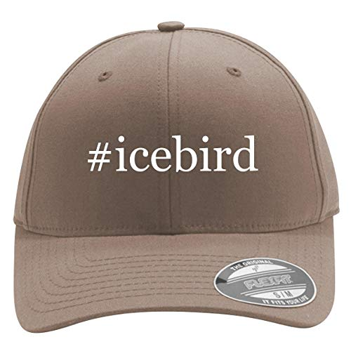 #Icebird - Men's Hashtag Flexfit Baseball Cap Hat, Khaki, Small/Medium