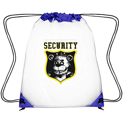 ERFDSVFSV Drawstring Clear Bags Five-Nights-at-Freddy's-Security-Yellow- Printing PVC Adjustable Strap Travel Fishing Clear Plastic Bags (Water Works Monopoly Costume)