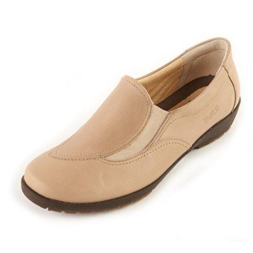 Fitting On Leather E Wide Shoe Soft June Ladies Suave Fit Mocha Slip 1qUnxBRUw