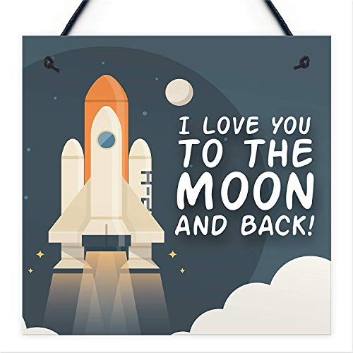 - Cheyan Novelty BFF Love You to The Moon & Back Hanging Plaque Friendship Bestfriend Gift Accessories