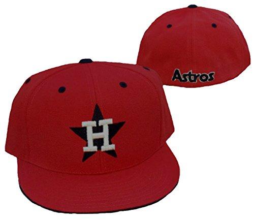 American Needle Houston Astros Team Color Brick Orange Fitted Hat Cap Size 7 1/2
