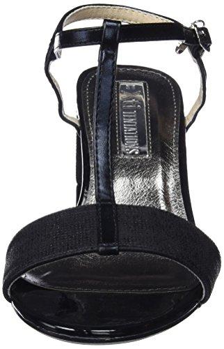 XTI 30681, Sandalias con Tira a T Para Mujer Negro (Black)