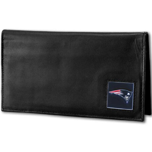 NFL New England Patriots Deluxe Leather Checkbook Cover by Siskiyou