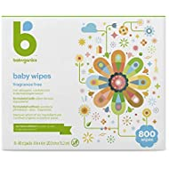 Babyganics Face, Hand & Baby Wipes, Fragrance Free, 800 ct, Packaging May Vary