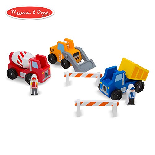 Doug Construction Vehicles - Melissa & Doug Construction Vehicle Wooden Play Set (8 pcs)