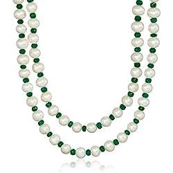 Loop Pearl Stone Rose Gold Plated Bangle Bracelet