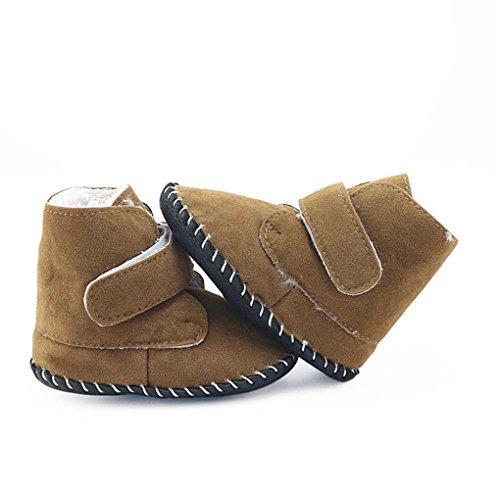 Igemy 1Paar Kleinkind Baby Mädchen Jungen Krippe Stiefel Soft Sohle Prewalker Warm Schuhe Khaki