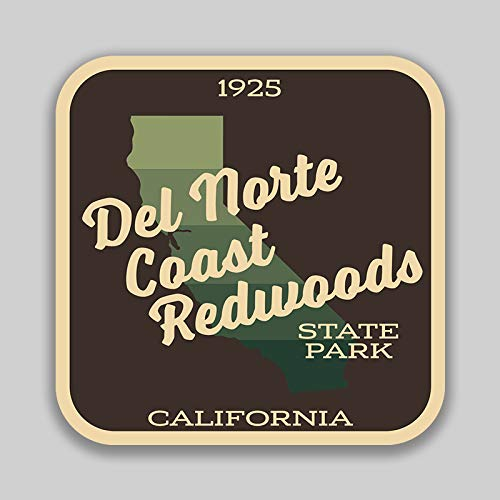 JMM Industries Del Norte Coast Redwoods State Park California Vinyl Decal Sticker Car Window Bumper 2-Pack 4-Inches by 4-Inches Premium Quality UV Protective Laminate SPS617