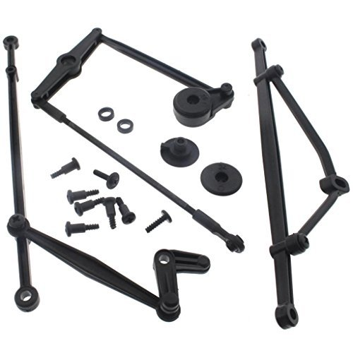 Servo Saver Linkage (HPI 1/12 Wheely King SERVO SAVER STEERING LINKAGE SUSPENSION ROD SET)