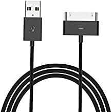 30 Pin Cable, 6ft iPad / iPod Dock 30 Pin Connector to USB Cable Charging Cord Cables for iPhone 4/4s, iPhone 3G/3GS, iPad 1/2/4, iPod (Black)