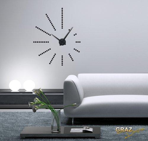 Vinilo de pared decoraci n de pared con reloj retro para for Vinilos pared pasillo