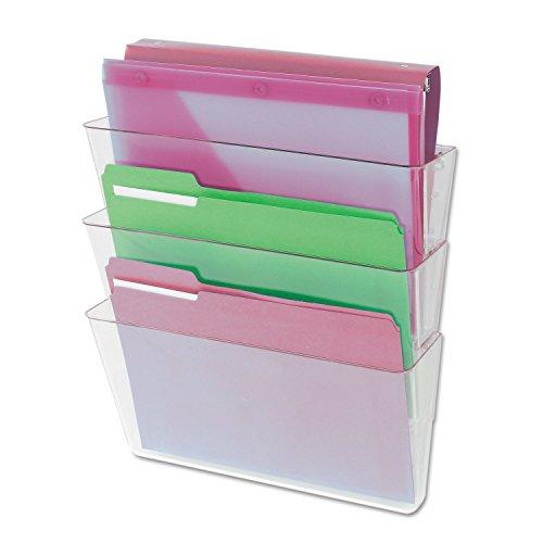 Universal 53682 3 Pocket Wall File Starter Set, Letter, (3 Clear Pockets)