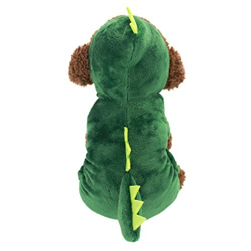 (Idepet Dogs Clothes Small Pet Costume Halloween Dinosaur Costume Dog Clothing Puppy Outfits Funny Apperal)